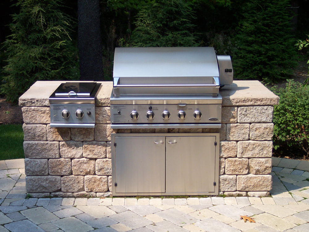 Outdoor kitchens landscaping services woodstream nurseries for Pre built outdoor kitchens