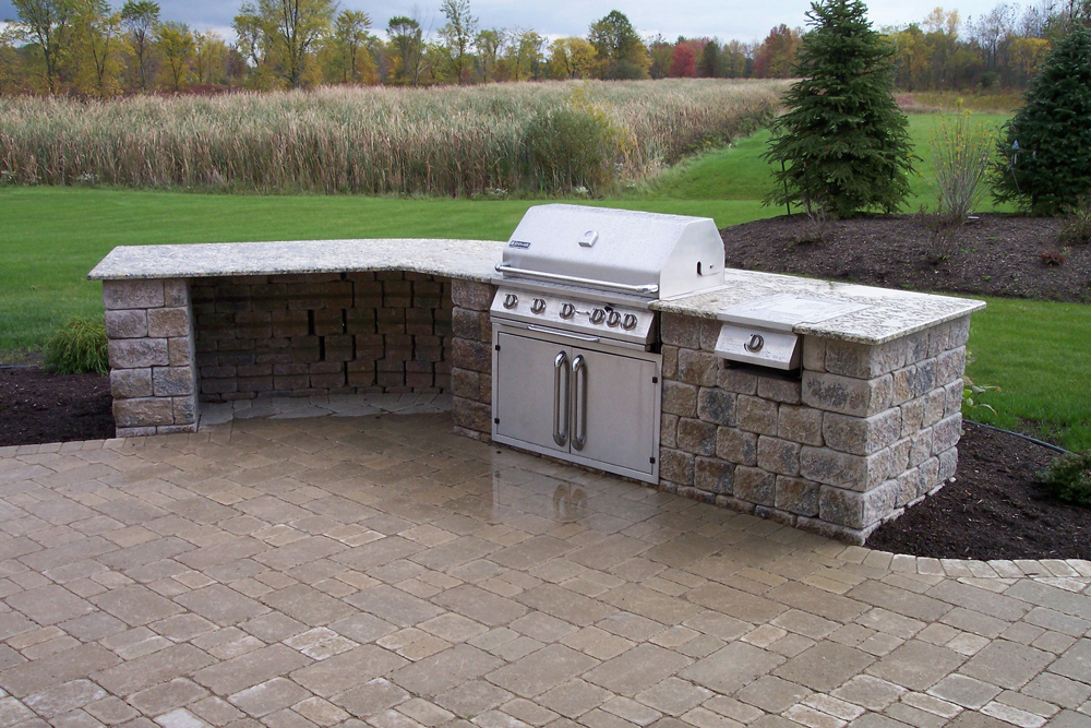 Ana White | Barbecue/BBQ Quick Built-in - DIY Projects |Outdoor Kitchen Freestanding Grill